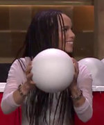 Zoe Kravitz Jimmy Fallon Giant Beer Pong