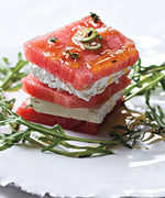 "Make This ""Hot and Sweet"" Watermelon Feta Salad Recipe From <em>Top Chef</em> Judge Hugh Acheson"