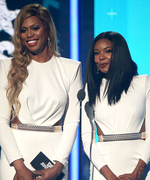 Laverne Cox and Gabrielle Union Wear the Same Dress at the 2015 BET Awards