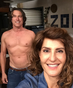 Nia Vardalos Captures a Shirtless John Corbett on the <em>My Big Fat Greek Wedding 2</em> Set