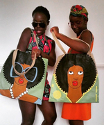 Lupita Nyong'o Sure Does Love Her Colorful Tote Bag by Kenyan Artist Michael Soi