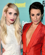 "Scream Queens Lea Michele and Emma Roberts Talk On-Set Female Bonding and Their ""Protector"""