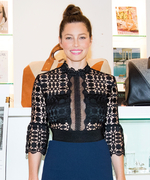 Jessica Biel Makes Her First Public Appearance Just Four Months After Giving Birth