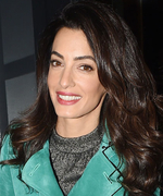 Amal Clooney Rings in Tight Season With an Ombré Trenchcoat
