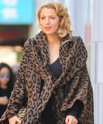 Blake Lively Looks Better Than Ever in a Leopard-Print Coat on the Set of Her Movie