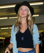 Behati Prinsloo Wins with Her Bohemian-Chic Airport Ensemble