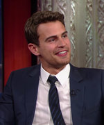 Watch Theo James and Stephen Colbert Name Things They Love About Each Other