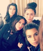 Kim Kardashian Hosts a Fabulous Girls' Night In