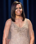 First Lady Michelle Obama Makes a Golden Entrance Hosting Her Last White House Correspondents' Dinner