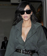 Kim Kardashian Slays in a Military-Style Jumpsuit Before Leaving London