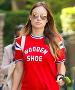Olivia Wilde's Latest Maternity Look Includes Checkered Slip-On Vans
