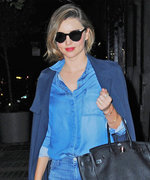 Miranda Kerr Makes a Canadian Tuxedo Look Like Couture in N.Y.C.