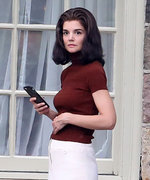 Katie Holmes Is Jackie Kennedy's Double on the Set of Her New Series