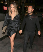 Chrissy Teigen and John Legend Coordinate in All-Black Date Night Outfits