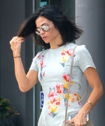 Jenna Dewan Tatum Shows Off Her Toned Legs in Cute Floral Mini Dress