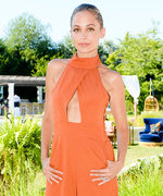Nicole Richie Rocks the Revolve Hamptons Party in a Glam Orange Jumpsuit
