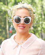 Lady Gaga Is Pretty in Pastels for Her Goddaughter's Baptism