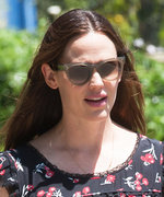 Jennifer Garner Looks Radiant Going to Church in a Summery Cherry-Print Dress