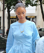 Rihanna Just Wore the Prettiest Blue Dress (and Matching Shoes!) in Paris