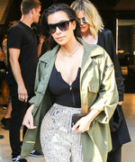 Kim Kardashian West Rocks See-Through Flashy Balmain Pants