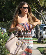 Sofía Vergara Turns Up the Heat in Strapless Summer Maxi Dress