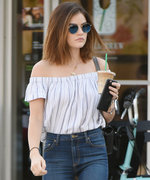 Lucy Hale's Off-the-Shoulder Top and Skinny Jeans Combo Is Summer Style Perfection