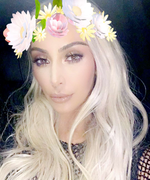 Kim Kardashian Goes Blonde (Again!) for Kanye West's Art Show