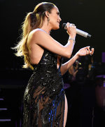 Jennifer Lopez Wows in Sheer Black Gown as She Surprises Marc Anthony Onstage