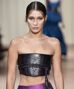 Bella Hadid Kicks Off Milan Fashion Week on the Alberta Ferretti Runway
