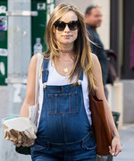 Olivia Wilde Covers Up Her Baby Bump with Cute Overalls