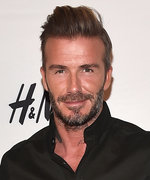 David Beckham Smolders at His H&M Modern Essentials Launch in Los Angeles