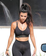 Kourtney Kardashian Dons Sexy Workout Look from Caitlyn Jenner's H&M Athleisure Line