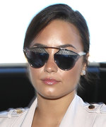 Demi Lovato Dons Sophisticated Pastels for a Flight Abroad
