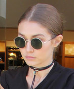 Gigi Hadid Flaunts Her Abs in a Cropped Tee and Satin Maxi Skirt While Shopping in L.A.