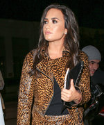 Demi Lovato Rocks Sexy Head-to-Toe Leopard Print for Fun Night Out