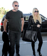 Jessica Simpson and Eric Johnson Make a Chic Pair in All-Black Ensembles at LAX