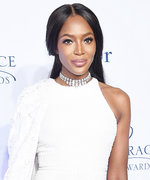 Naomi Campbell Is a Vision in White at the Princess Grace Awards Gala