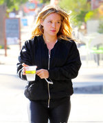 Hilary Duff Shows Off Her Fresh-Faced Complexion While Out and About in Los Angeles