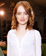 Emma Stone's Plunging Blouse Takes This Sophisticated Ensemble to Another Level