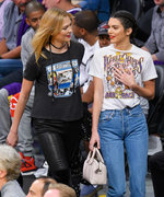 Kendall Jenner and Karlie Kloss Match in Throwback Tees to Catch a Basketball Game