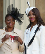 Naomi Campbell Makes Suiting Separates Look Royally Chic at Buckingham Palace
