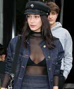 Bella Hadid Channels Her Inner French Girl in Denim on Denim While Out in Paris