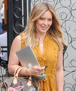 Hilary Duff Gives Off Serious Lemonade Vibes in a Ruffled Marigold Dress