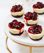 These Mini Cherry Cheesecakes Are Little Bites of Heaven