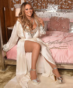 Mariah Carey Dazzles in Pink Silk Lingerie at her MAC Beauty Icon Launch