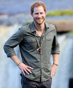 Prince Harry Fearlessly Poses on a Huge Waterfall During His Visit to Guyana