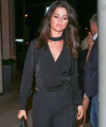 Selena Gomez Is Super Sleek in Head-to-Toe Black for a Night on the Town