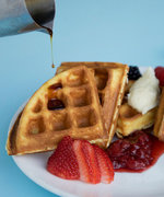 A Delicious Brown Butter Waffle Recipe for International Waffle Day
