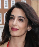 Amal Clooney's Latest Maternity Look Is Red Hot in the Best Way