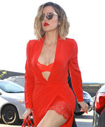 Khloé Kardashian Is Red Hot in Lingerie Look